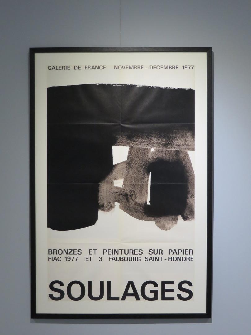 galerie d 39 art artives rodez affiches pierre soulages en